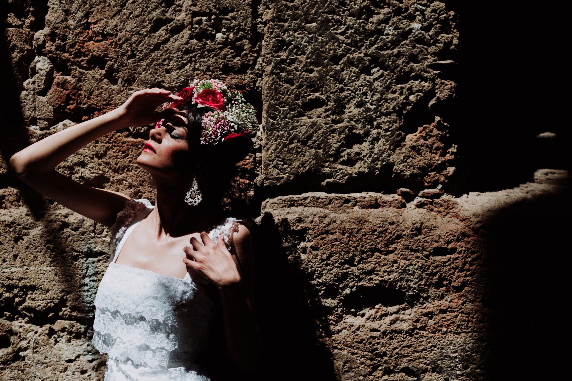 wedding photographer in sicily, portrait photographer, frida khalo, dolce e gabbana