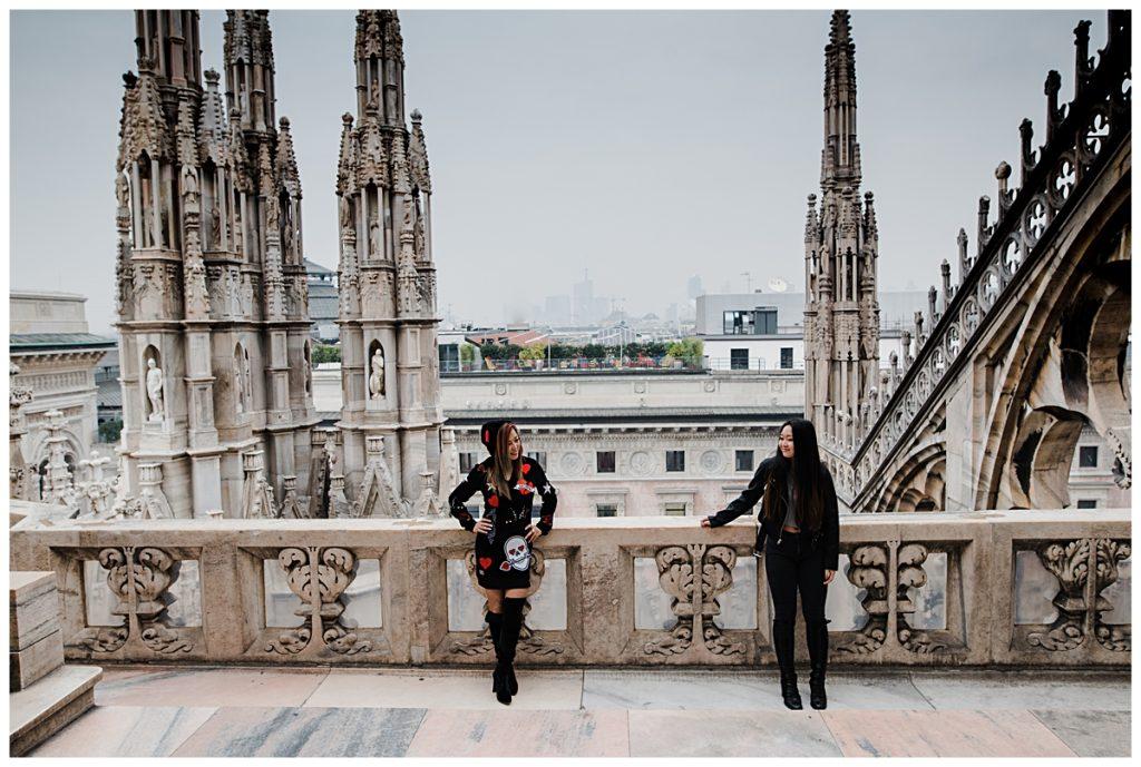 mother and daughter shooting at Milan