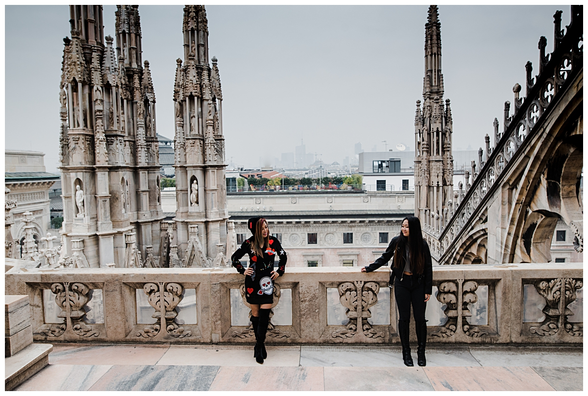 mother and daughter shooting at Milan